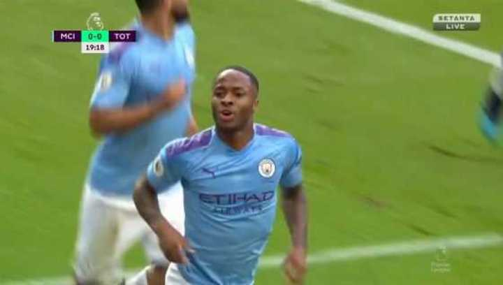 Sterling marcó el 1 a 0 del City