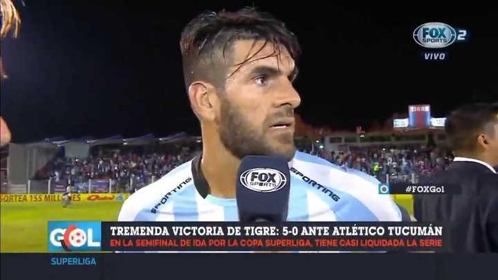 Toledo habló tras la goleada sufrida ante Tigre