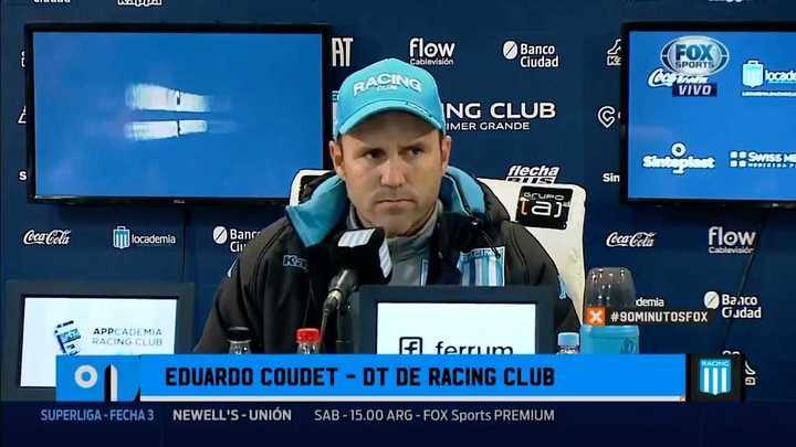 El cruce de Coudet con un periodista en la conferencia de prensa
