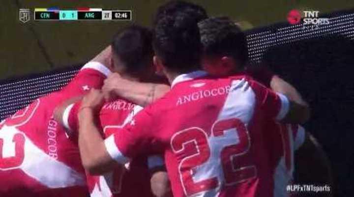 Carabajal marcó el 1 a 0