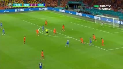 Yarmolenko metió un golazo contra Países Bajos