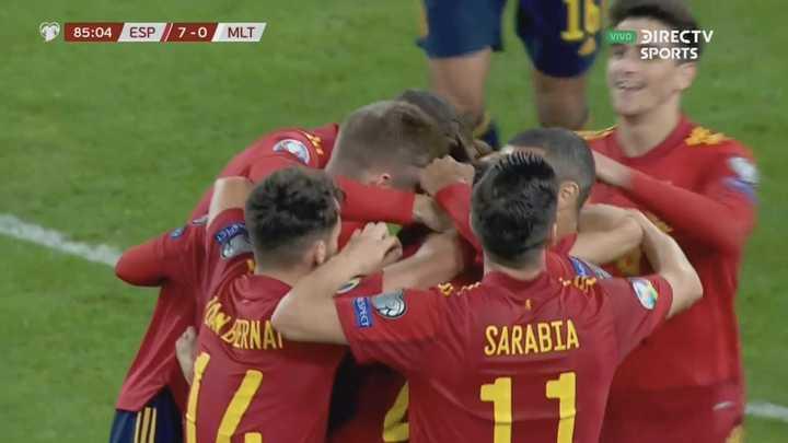 España goleó 7 a 0 a Malta