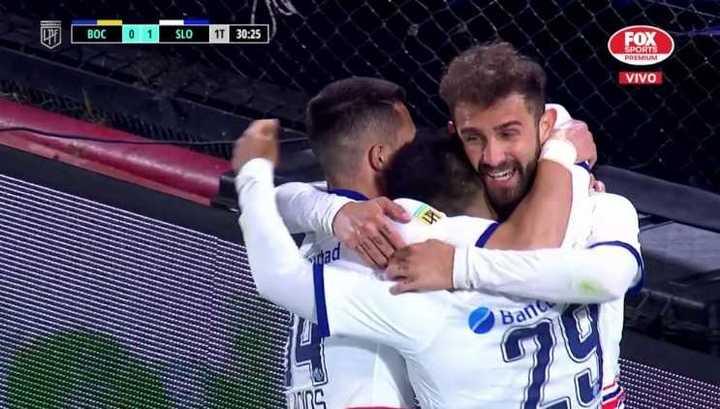 Gran jugada de Romero y cabezazo de Peruzzi para el 1-0