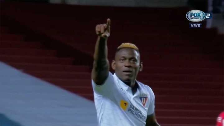 Cristian Borja marcó para Liga de Quito