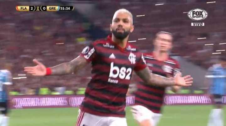 Gabriel también anotó el 3 a 0 de Flamengo