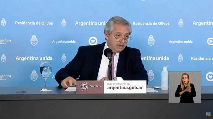 Alberto Fernández habló sobres las prohibiciones que seguirán vigentes