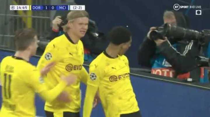 Bellingham puso el 1 a 0 para el Dortmund