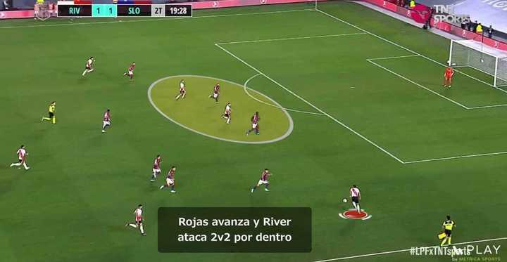 El videoanálisis del segundo gol de River a San Lorenzo