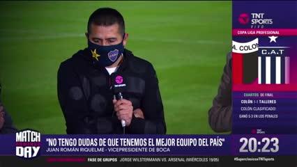 """Riquelme: """"Sin dudas que Boca es el mejor equipo del país"""""""