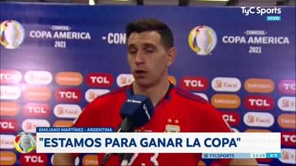 """Dibu Martínez: """"Estamos para ganar la Copa"""""""