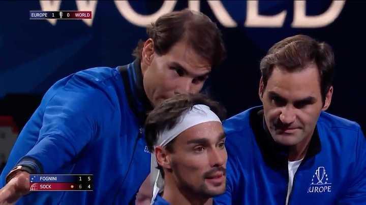 Los consejos de los DT Federer y Nadal a Fognini