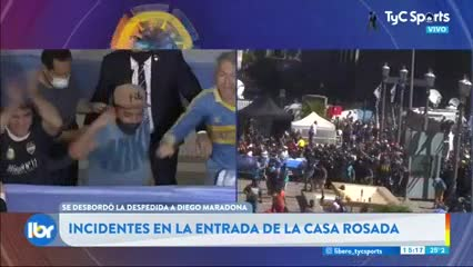 Incidentes en la despedida de Maradona en la Casa Rosada