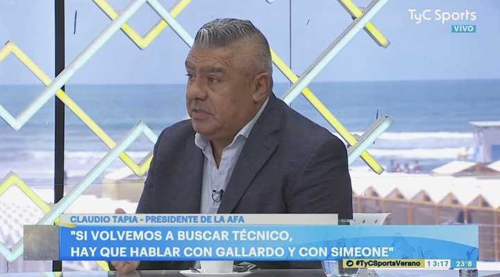 Tapia les respondió a los que acusan a la AFA de bostera
