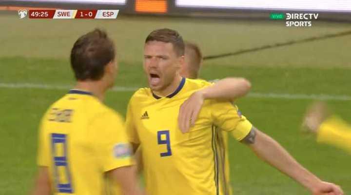 Berg marcó el 1 a 0 de Suecia sobre España