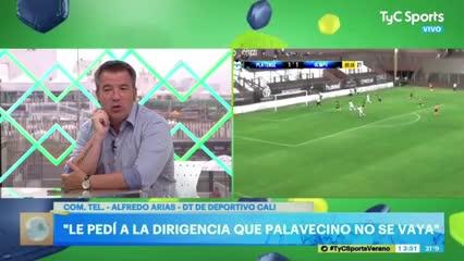 """Alfredo Arias: """"Le pedí a la dirigencia que Palavecino no se vaya"""""""