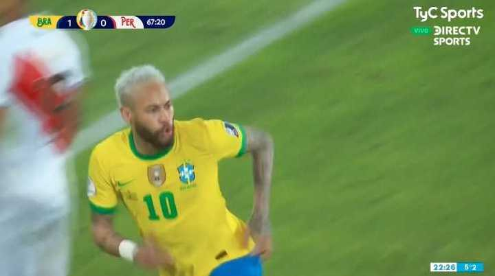 Neymar marcó el 2 a 0 de Brasil