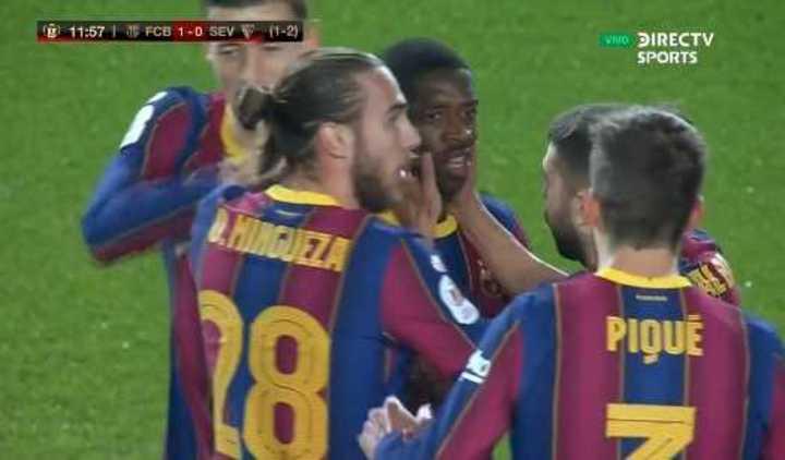 Golazo de Dembelé para el 1 a 0 del Barcelona