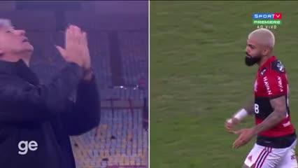 Gabigol marcó un gol y Renato lo imitó