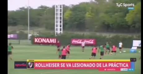 El momento de la lesión de Rollheiser