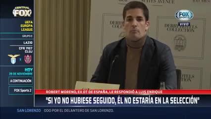 Robert Moreno habló sobre Luis Enrique