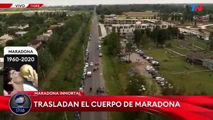 Así trasladaban el cuerpo de Diego Maradona