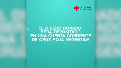El pedido d la Cruz Roja