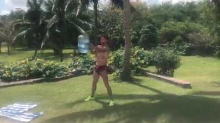 Sergio Ramos y su particular entrenamiento