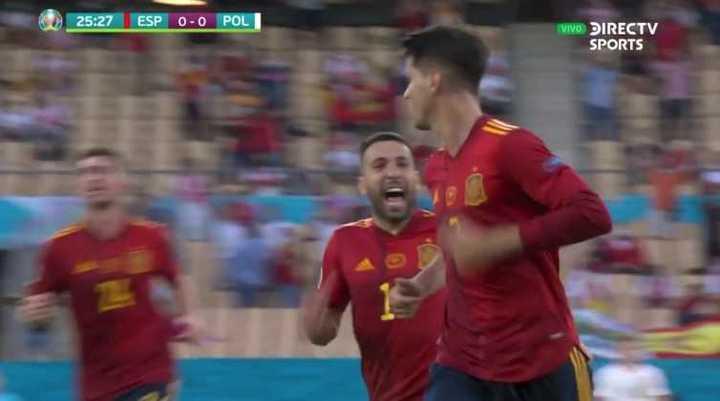 Morata marcó el primero de España