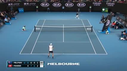 Los puntazos de Federer vs. Millman