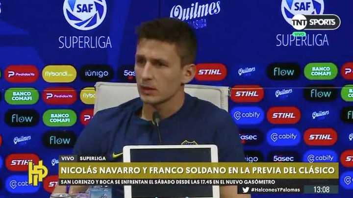 """Franco Soldano: """"Lo que plantea el entrenador en los partidos no es algo al azar"""""""