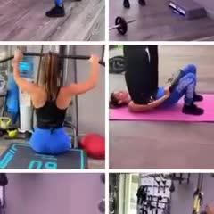 El entrenamiento de Antonella Roccuzzo