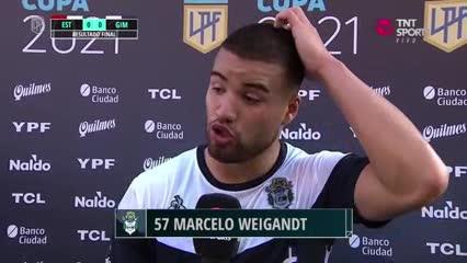 """Weigandt: """"Ojalá que los jugadores seamos vacunados porque el fútbol tiene que seguir y el virus está muy fuerte"""