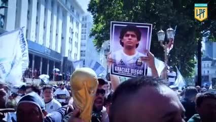 Un homenaje de la Liga argentina a Maradona