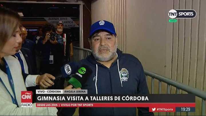 La llegada de Maradona al Kempes