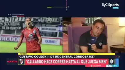 "Coleoni ""Un jugador que no juega una final está mal de la cabeza"""