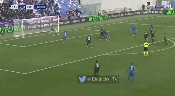 Cholito Simeone anotó tras 11 partidos para la Fiore
