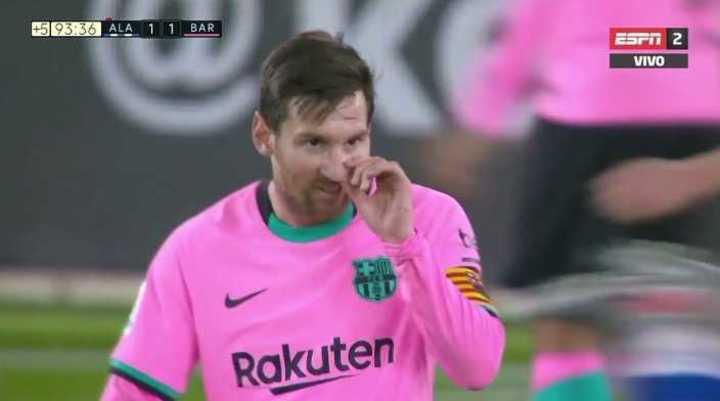 El partido de Messi vs. Alavés
