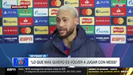 """Neymar: """"Quiero volver a jugar con Messi"""""""