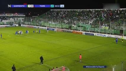 Los goles de Sarmiento 1 - Tigre 1