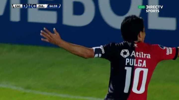 Pulguita Rodríguez marcó un golazo para el 2-0