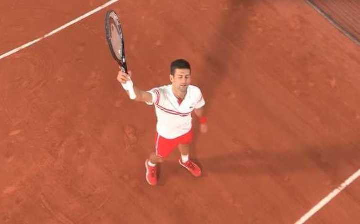 El último punto de de Djokovic ante Rafa Nadal