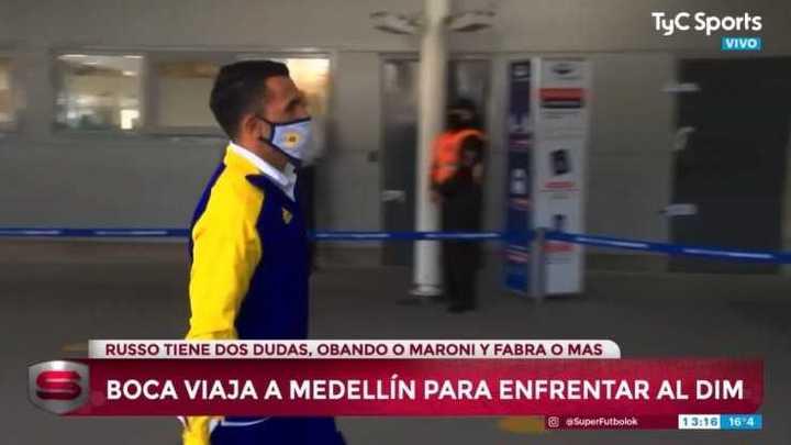 Boca llegó a Ezeiza para viajar a Colombia