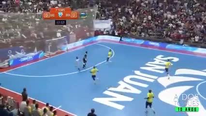 Los mejores diez goles de Argentina a Brasil en futsal