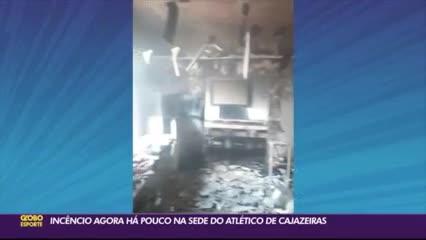 Se incendió la sede y los jugadores huyeron por los techos