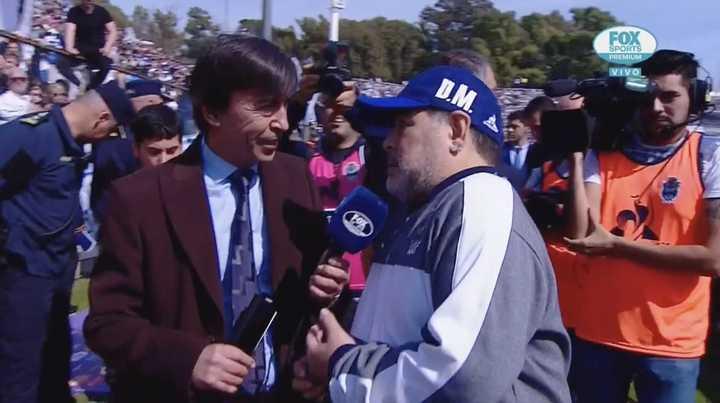 """Diego Maradona: """"Todos los futbolistas soñamos con sacarle una sonrisa a la gente"""""""