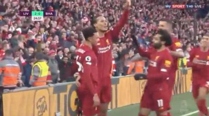 Mirá los goles de Liverpool 2 - Brighton 1