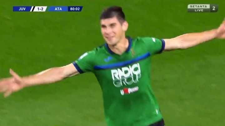 Golazo de Atalanta para el 2-1