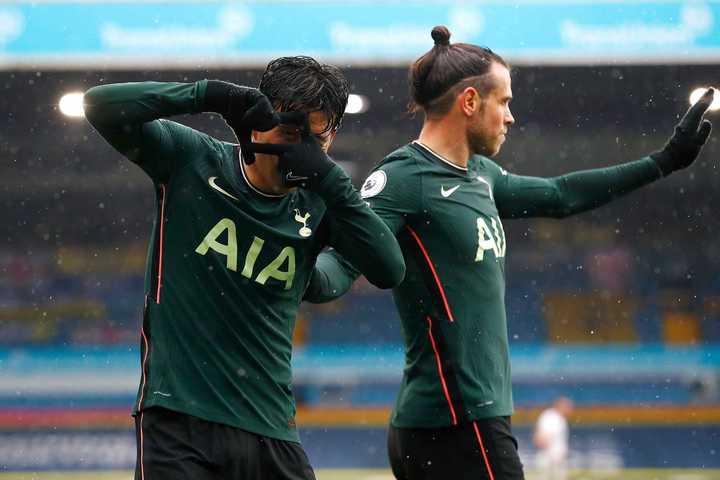 Son puso el 1-1 para el Tottenham en casa de Leeds