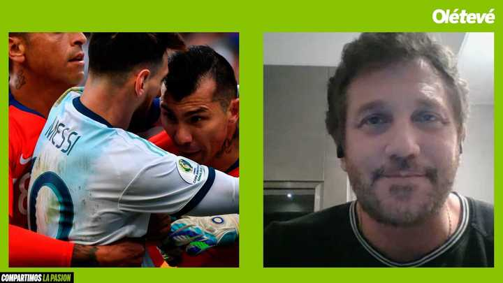 Domínguez habla sobre la roja de Messi en la Copa América y sus frases sobre corrupción