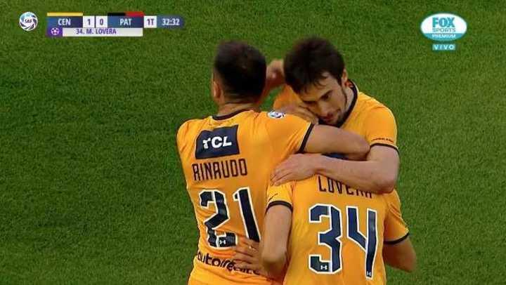 Lovera sacó a pasear al defensor y marcó el 1-0